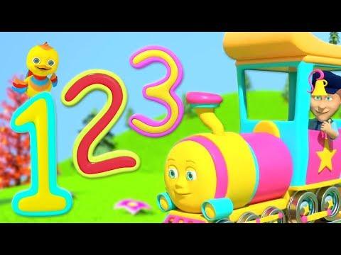 Numbers Train | Children Songs & Nursery Rhymes | Kindergarten Cartoons by Little Treehouse