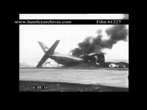 Bombing near Khe Sanh, 1968.  Archive film 61227