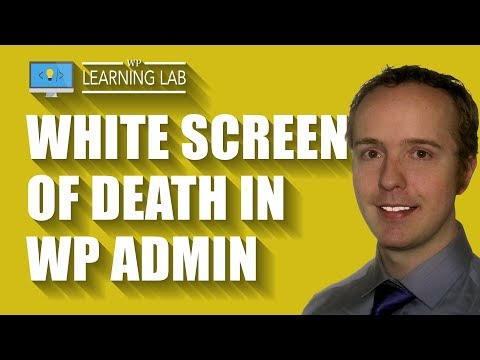 White Screen Of Death In Admin - How To Fix The WordPress Admin Panel Blank White Page