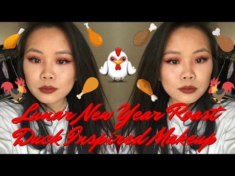 🍗 lunar new year roast duck inspired makeup 🍗
