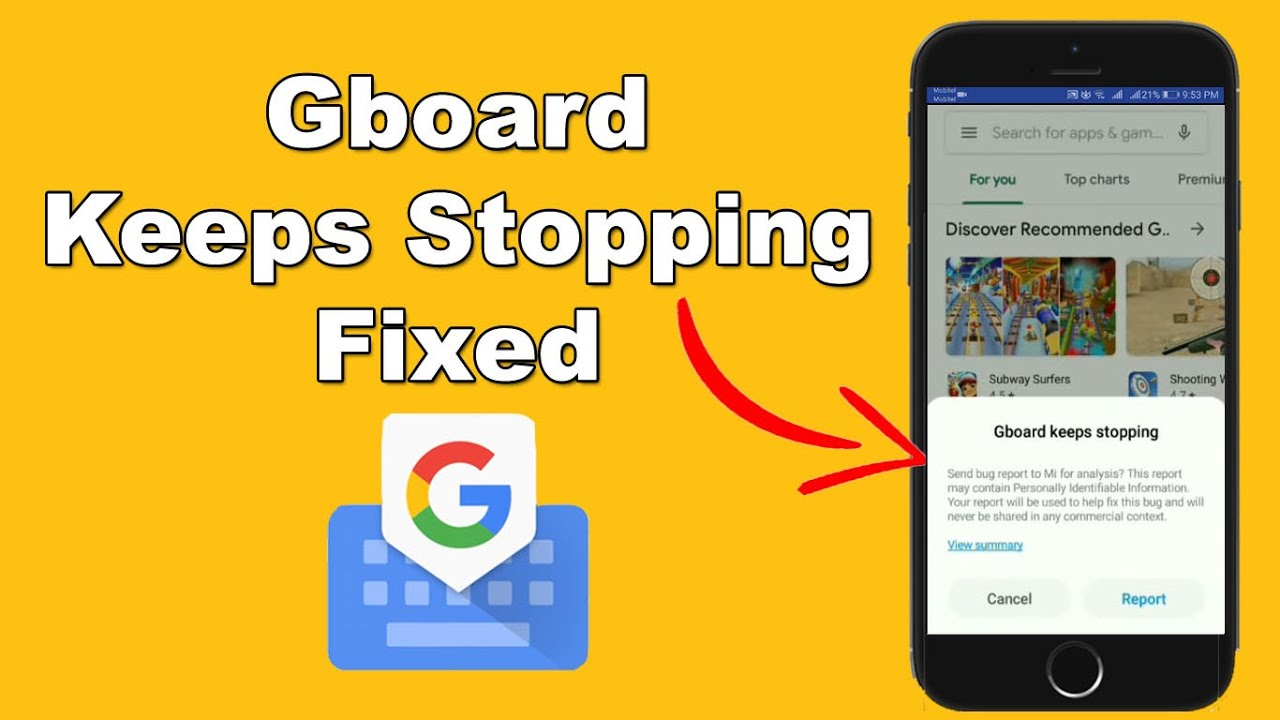 How to Solve the Problem Gboard Keeps Stopping/Bugs Fix - YouTube
