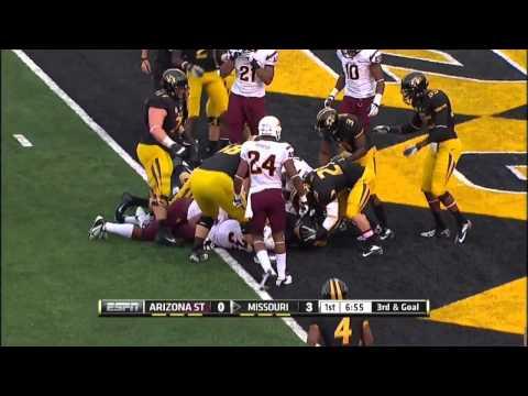 09/15/2012 Arizona State vs Missouri Football Highlights