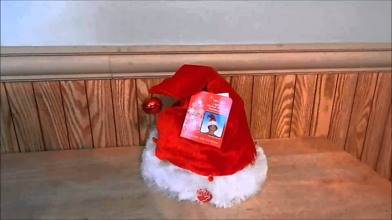 6ce2cccdc218a Dan Dee Adult Animated Singing Christmas Santa Hat - YouTube