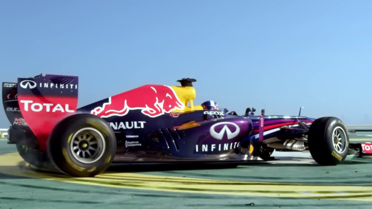 Red Bull Racing F1 Stunt On Burj Al Arab Helipad Official Video You