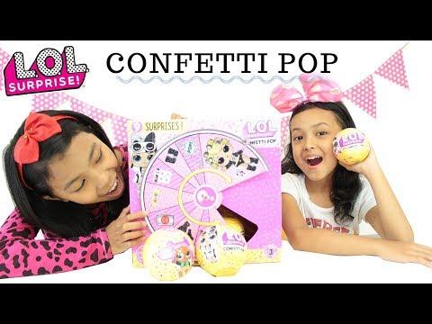 LOL SURPRISE CONFETTI POP SERIES 3 ♥ Toys Unboxing LOL ♥ Mainan Anak Terbaru