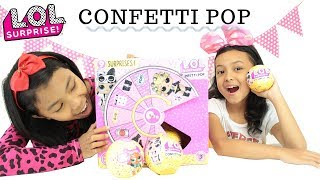 LOL SURPRISE CONFETTI POP SERIES 3 ♥ Toys Unboxing LOL ♥ Mainan anak terbaru