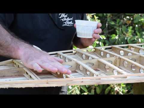 Make a wood surfboard Vid#10 Sealing the inside