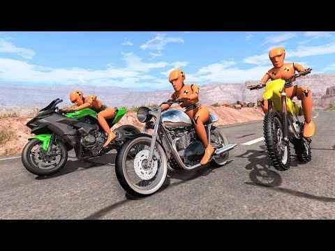 Motorbike Crashes #8 - BeamNG DRIVE | SmashChan