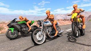 Motorbike Crashes #8 - BeamNG DRIVE   SmashChan