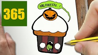 HOW TO DRAW A CUPCAKE ZOMBIE CUTE, Easy step by step drawing lessons for kids