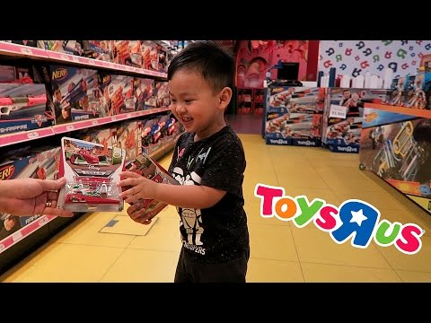 Trip to Toys R Us store to buy Lightning McQueen Car!