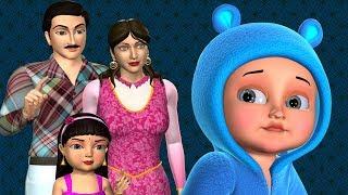 Çocuklar İçin Johny Johny Evet Papa Aile Versiyonu - 3D Animasyon Tekerlemeler & Şarkı