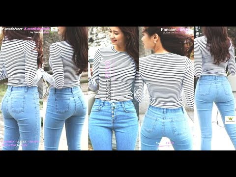 [FASHION LOOKBOOK] [CASUAL OUTFIT   STYLING SKINNY DENIM WITH STRIPE TOP Ft. HEE-EUN] By FancamVEVO