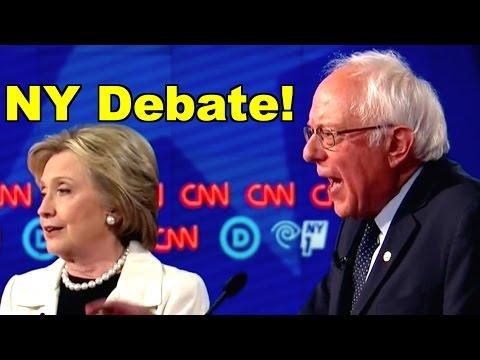 Bernie Sanders v Hillary Clinton debate in NY! LV CNN Democratic Debate Clip Roundup #FeelTheBern