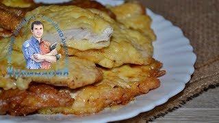 Отбивные из куриной грудки с сыром в кляре. Рецепт в фотографиях