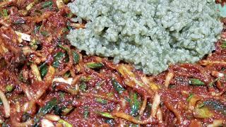명월초김치 당뇨초김치 담그기