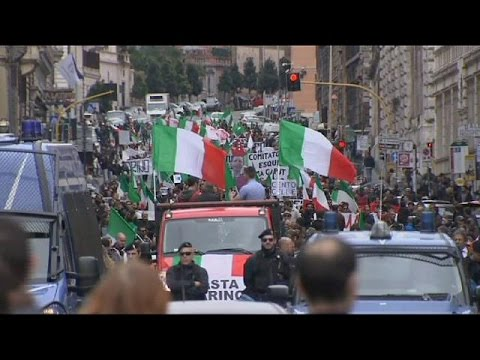 Anti-immigration protests in Rome