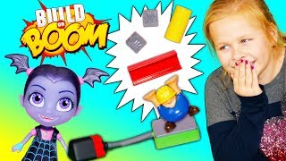Assistant Plays Build or Bust Game with Vampirina and PJ Masks and Elasty Plasty Putty