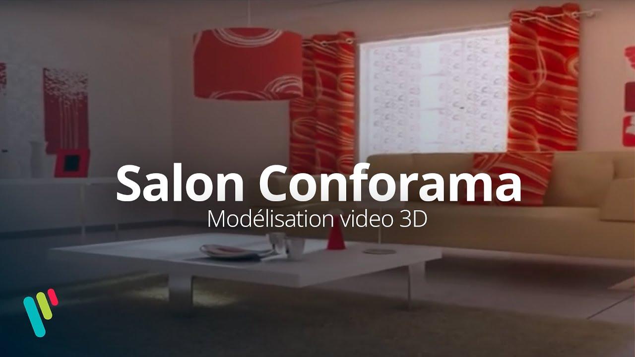 Salon conforama mod lisation vid o 3d youtube for Conforama 3d
