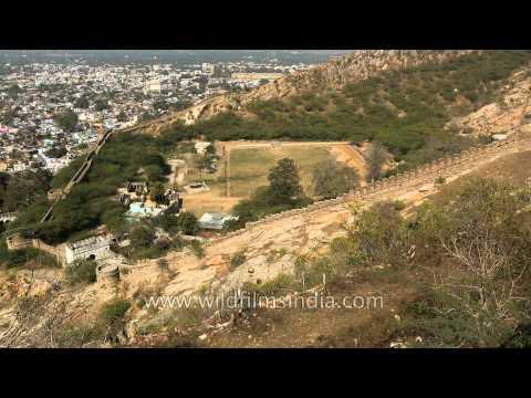 Top view of Dausa town of Rajasthan