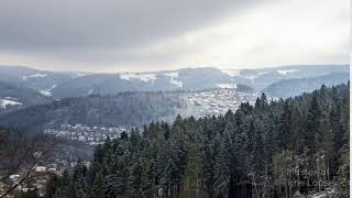 249 Time Lapse Black Forest Village View Winter Snow | Zeitraffer Schwarzwald Tal Dorf Schnee 4K