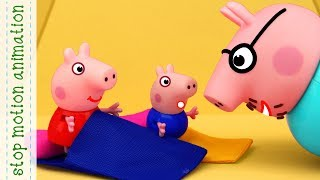 Interrupted picnik  Peppa Pig TV toys stop motion animation in english
