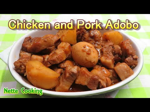 Pork and Chicken Adobo(with Patatas)