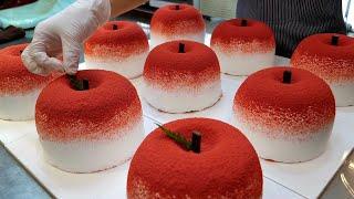 Потрясающее мастерство! Приготовление яблочно-йогуртового торта - Корейский пищевой завод