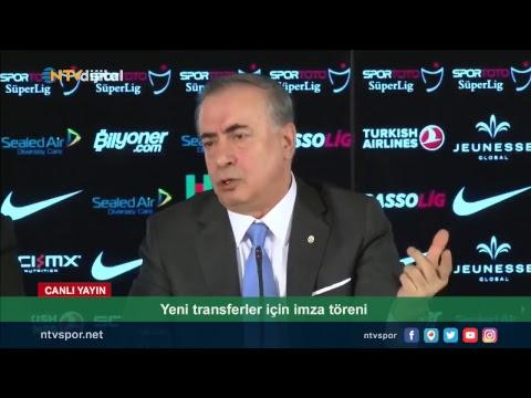 (CANLI YAYIN) Galatasaray yeni transferleri için imza töreni düzenliyor
