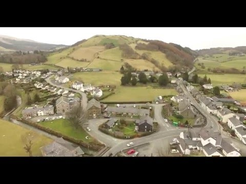 Pennal in southern Snowdonia - an aerial view