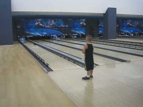 The Boy's First Time Bowling  - July 20, 2012
