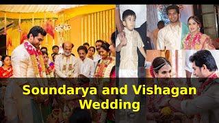 Emotional Moments for Rajnikanth and Ved at Soundarya and Vishagan Wedding
