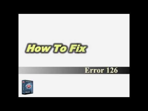 How To Fix Error Code 126