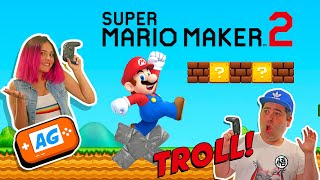 NIVEL TROLL en Super MARIO MAKER 2 no puedes saltar 🤾‍♂️ 🍄🍄🍄 Abrelo Game Mario MAKER 2