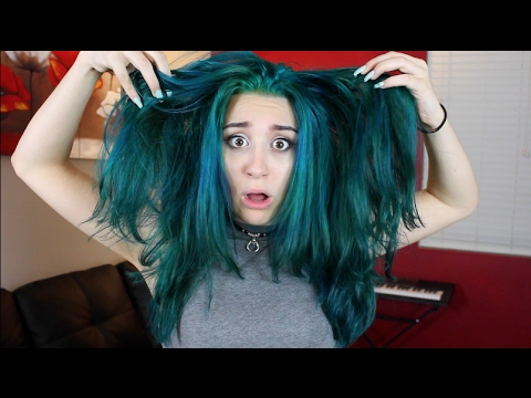 dyed hair teal