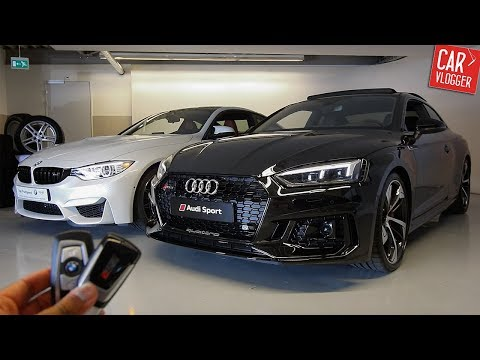 SIDE by SIDE the NEW Audi RS5 vs BMW M4 Competition Package