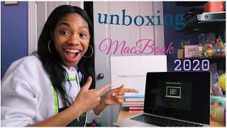 unboxing macbook air 2020 :)