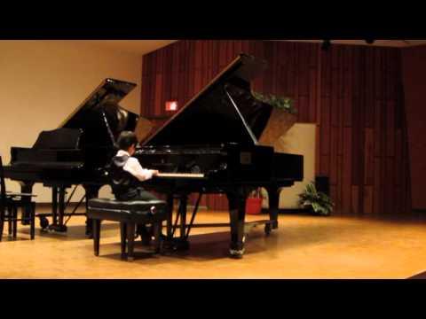 Alex (5) plays piano RCM Grade 8 Knight Rupert by Robert Schumann
