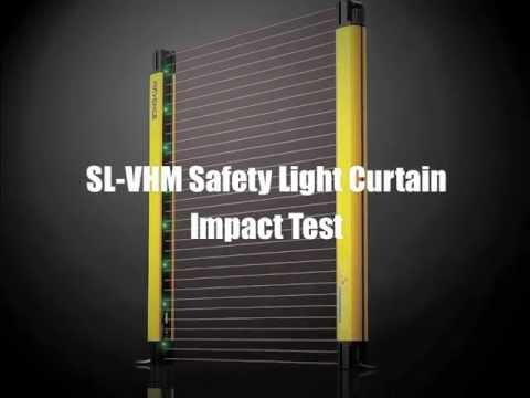 High Quality Keyence SLV HM Safety Light Curtain Steel Plate Impact Test