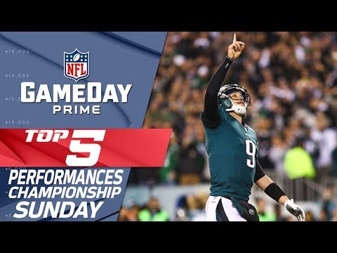 Top 5 Performances from Championship Sunday! | GameDay Prime | NFL Highlights