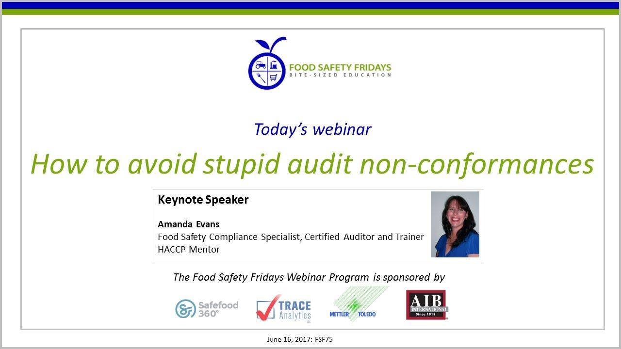 How to avoid stupid audit non-conformances - International