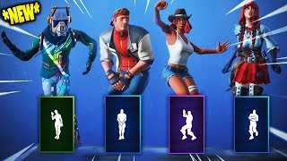 TOUS les 'NEW' Fortnite Saison 6 Skins ' Dances / Emotes!