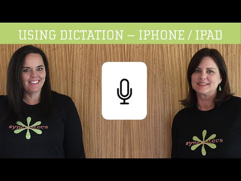 Dictation On IPhone / IPad