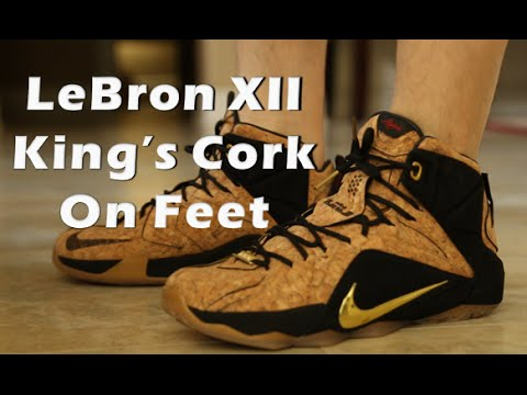 brand new 8d337 b1297 LEBRON 12 KINGS CORK REVIEW ON FEET