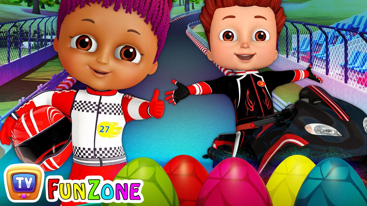 Download Learn Colors and Shapes with Race Bikes and Surprise Eggs Bike Toys (SINGLE) - ChuChu TV Funzone