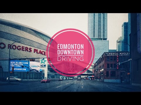 Driving Downtown- Edmonton, Alberta, Canada