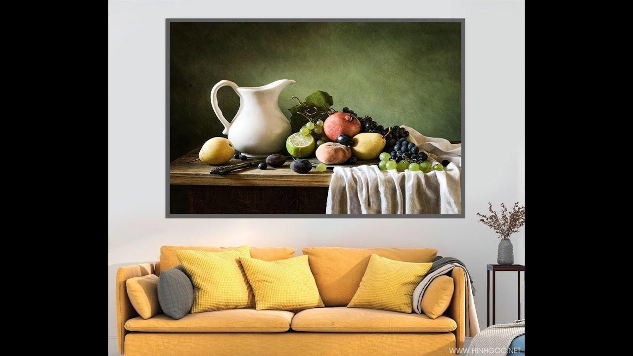 Vẽ tranh tĩnh vật, tranh bộ treo tường – P1