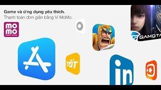 Giải trí bất tận Thanh toán đơn giản App Store Cùng Ví MoMo