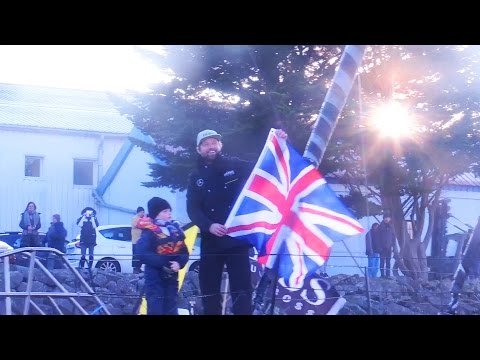 Alex Thomson Crosses The Finish Line Of The Vendee Globe Race