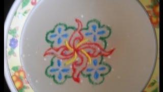 Floating rangoli for Navratri Diwali festivals